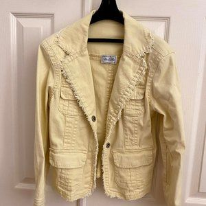 Yellow Live a Little Blazer/Utility Jacket XS